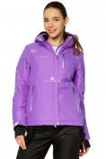 Оптом Куртка горнолыжная женская фиолетового цвета 1812F в Екатеринбурге