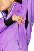 Оптом Куртка горнолыжная женская фиолетового цвета 1812F в Екатеринбурге, фото 5