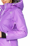 Оптом Куртка горнолыжная женская фиолетового цвета 1812F в Екатеринбурге, фото 6