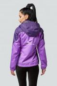 Оптом Курка спортивная женская (плащёвка new 2019) фиолетового цвета 1821F в Нижнем Новгороде, фото 3