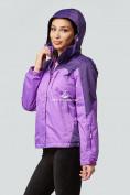 Оптом Курка спортивная женская (плащёвка new 2019) фиолетового цвета 1821F в Нижнем Новгороде, фото 4