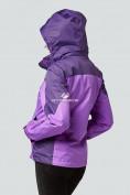Оптом Курка спортивная женская (плащёвка new 2019) фиолетового цвета 1821F в Нижнем Новгороде, фото 5