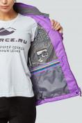 Оптом Курка спортивная женская (плащёвка new 2019) фиолетового цвета 1822F в Нижнем Новгороде, фото 7