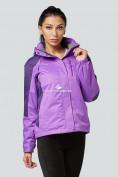 Оптом Курка спортивная женская (плащёвка new 2019) фиолетового цвета 1822F в Нижнем Новгороде, фото 8