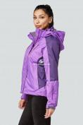 Оптом Курка спортивная женская (плащёвка new 2019) фиолетового цвета 1822F в Казани, фото 2