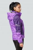 Оптом Курка спортивная женская (плащёвка new 2019) фиолетового цвета 1822F в Казани, фото 3