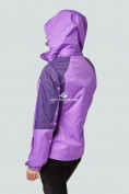Оптом Курка спортивная женская (плащёвка new 2019) фиолетового цвета 1822F в Казани, фото 5