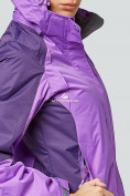 Оптом Курка спортивная женская (плащёвка new 2019) фиолетового цвета 1822F в Казани, фото 6