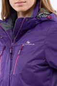 Оптом Курка спортивная женская (плащёвка new 2019) темно-фиолетового цвета 1825TF в Казани, фото 4