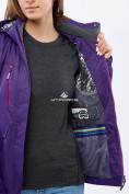 Оптом Курка спортивная женская (плащёвка new 2019) темно-фиолетового цвета 1825TF в Казани, фото 5