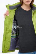 Оптом Курка спортивная женская (плащёвка new 2019) фисташкового цвета 1825FT в Казани, фото 5