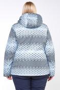 Оптом Куртка горнолыжная женская большого размера серого цвета 1830Sr в  Красноярске, фото 6