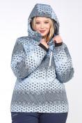 Оптом Куртка горнолыжная женская большого размера серого цвета 1830Sr в  Красноярске, фото 4