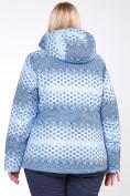 Оптом Костюм горнолыжный женский большого размера синего цвета 01830S, фото 9