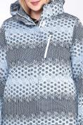 Оптом Куртка горнолыжная женская большого размера серого цвета 1830Sr в  Красноярске, фото 5