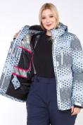 Оптом Куртка горнолыжная женская большого размера серого цвета 1830Sr в  Красноярске, фото 7
