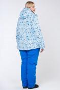 Оптом Куртка горнолыжная женская большого размера синего цвета 1830-1S, фото 9