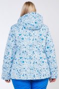 Оптом Куртка горнолыжная женская большого размера синего цвета 1830-1S, фото 3