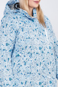 Оптом Куртка горнолыжная женская большого размера синего цвета 1830-1S, фото 6