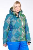 Оптом Костюм горнолыжный женский большого размера салатового цвета 01830-2Sl в  Красноярске, фото 12
