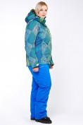Оптом Костюм горнолыжный женский большого размера салатового цвета 01830-2Sl в  Красноярске, фото 4