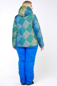 Оптом Костюм горнолыжный женский большого размера салатового цвета 01830-2Sl в  Красноярске, фото 5