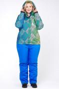 Оптом Костюм горнолыжный женский большого размера салатового цвета 01830-2Sl в  Красноярске, фото 2