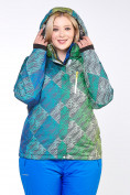 Оптом Костюм горнолыжный женский большого размера салатового цвета 01830-2Sl в  Красноярске, фото 14