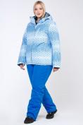 Оптом Костюм горнолыжный женский большого размера голубого цвета 01830Gl в  Красноярске, фото 3