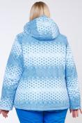 Оптом Куртка горнолыжная женская большого размера голубого цвета 1830Gl в  Красноярске, фото 4