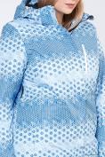 Оптом Куртка горнолыжная женская большого размера голубого цвета 1830Gl в  Красноярске, фото 5
