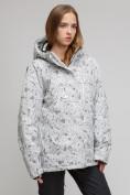 Оптом Куртка горнолыжная женская большого размера белого цвета 1830-1Bl в Екатеринбурге