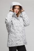 Оптом Костюм горнолыжный женский большого размера белого цвета 01830-1Bl в Нижнем Новгороде, фото 3