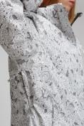 Оптом Куртка горнолыжная женская большого размера белого цвета 1830-1Bl в Екатеринбурге, фото 5