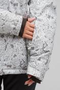 Оптом Куртка горнолыжная женская большого размера белого цвета 1830-1Bl в Екатеринбурге, фото 6