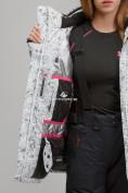 Оптом Куртка горнолыжная женская большого размера белого цвета 1830-1Bl в Екатеринбурге, фото 7