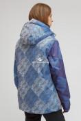 Оптом Куртка горнолыжная женская большого размера синего цвета 1830-2S в Казани, фото 4
