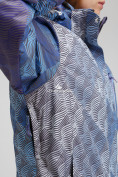 Оптом Куртка горнолыжная женская большого размера синего цвета 1830-2S в Казани, фото 5