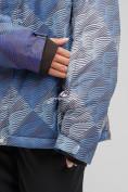 Оптом Куртка горнолыжная женская большого размера синего цвета 1830-2S в Казани, фото 6