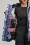 Оптом Куртка горнолыжная женская большого размера синего цвета 1830-2S в Казани, фото 7