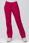 Оптом Брюки женские из ткани softshell бордового цвета 1851Bo, фото 7