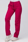 Оптом Брюки женские из ткани softshell бордового цвета 1851Bo, фото 4