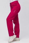 Оптом Брюки женские из ткани softshell бордового цвета 1851Bo в Екатеринбурге, фото 8