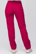 Оптом Брюки женские из ткани softshell бордового цвета 1851Bo в Екатеринбурге, фото 5