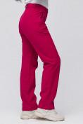 Оптом Брюки женские из ткани softshell бордового цвета 1851Bo, фото 6