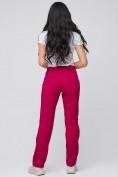 Оптом Брюки женские из ткани softshell бордового цвета 1851Bo в Екатеринбурге, фото 4