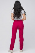 Оптом Брюки женские из ткани softshell бордового цвета 1851Bo, фото 3