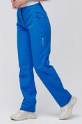 Оптом Брюки женские из ткани softshell синего цвета 1851S в Нижнем Новгороде, фото 5