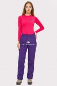 Оптом Брюки женские большого размера фиолетового цвета  1852-1F в Екатеринбурге