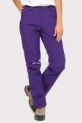 Оптом Брюки женские из ткани softshell фиолетового цвета 1851F, фото 2